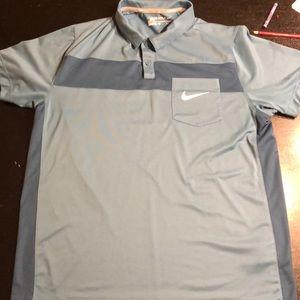 Nike golf polo slate blue size large